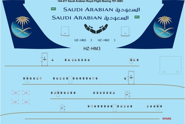 Boeing 707-368C (Saudi Arabian Royal Flight)  144-477