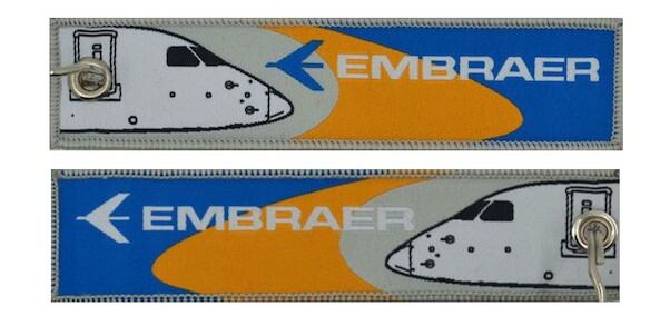 Keyholder with EMBRAER on both sides  KEY-EMBRAER WOVEN