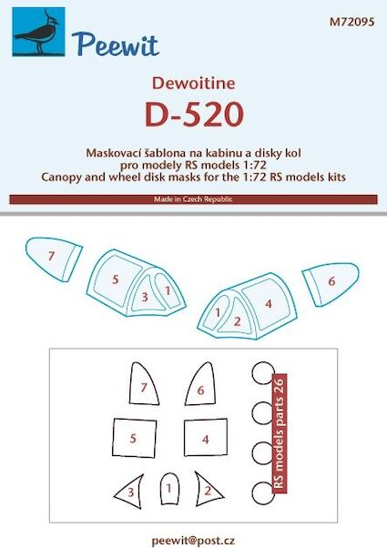 Dewoitine D-520 Canopy masking (RS models)  M72095