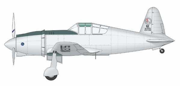 Vultee V48 Vanguard - First prototype (AZ Models, Sword)  ARC72-K02