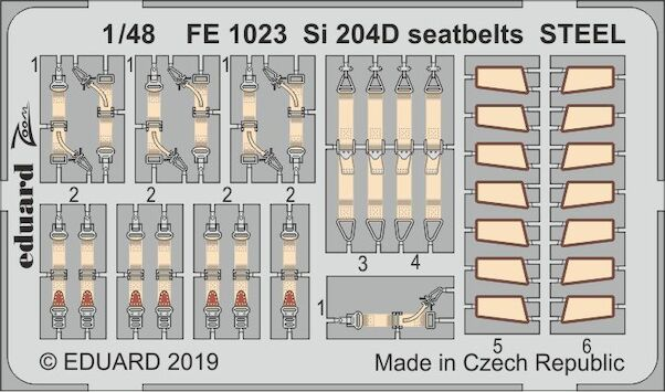 Detailset Siebel Si204D seatbelts (Special Hobby)  FE1023