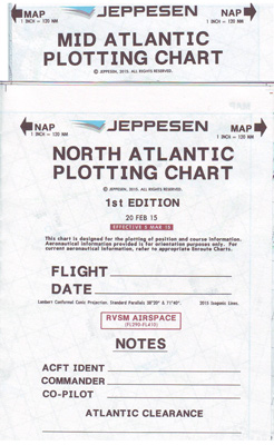 North Atlantic Plotting Chart set of 5 charts  NAP-MAP