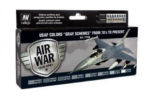Vallejo Model Color Air Acrylic paint set USAF Colors 'Gray Schemes