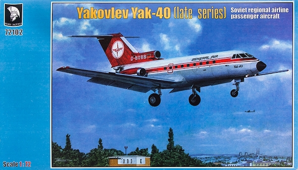 Yakovlev Yak40 Late Series (LOT, CSA and General Air) (RESTOCK  MRM72102-2