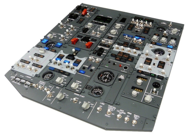B737 FWD OVERHEAD panel (Fully Assembled)  OVH737NG_FWD