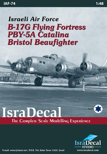 Israeli Air Force B17G Flying Fortress, PBY5A Catalina and Bristol Beaufighter  IAF74