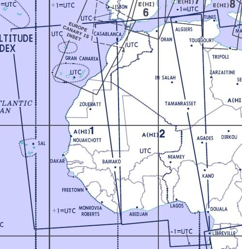 High Altitude Enroute Chart Africa A(HI)1/2