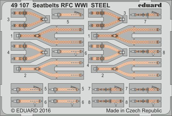 Detailset RFC WW1 Seatbelts (STEEL)  E49-107