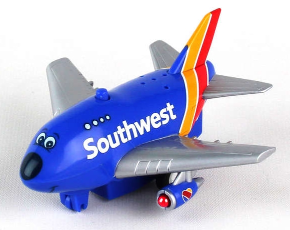 Pullback Plane with Light & Sound (Southwest Airlines)  TT096-1