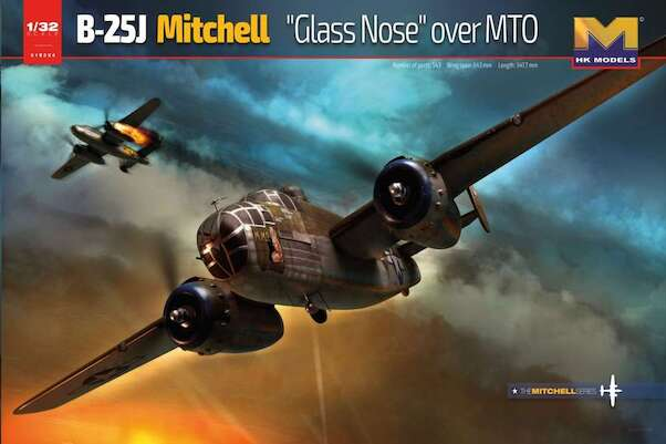 North American B25J Mitchell Glassnose over MTO  01E024