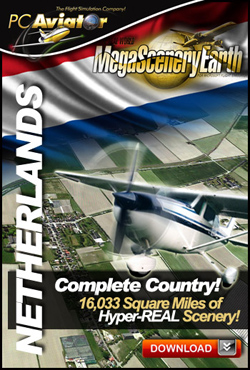 Mega Scenery Earth: The Netherlands (Download version) (PC Aviator  DL-MSE-NETH)