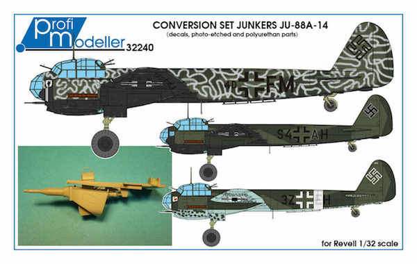 Junkers Ju88A-14 Conversion (Revell)  320240