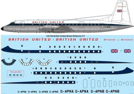 Bristol Britannia 300 (British United)  144-763