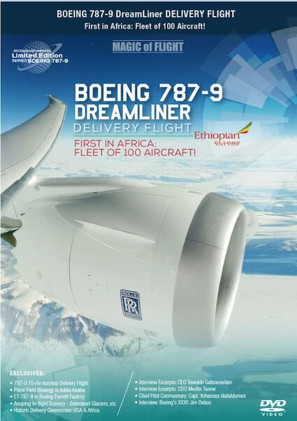 Boeing 787-9 Dreamliner Delivery Flight Ethiopian Airlines. First in Africa; fleet of 100 aircraft  0096962101459