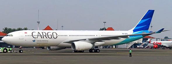 "Airbus A330-300 Garuda Indonesia ""Cargo Title"" PK-GPA With Antenn"