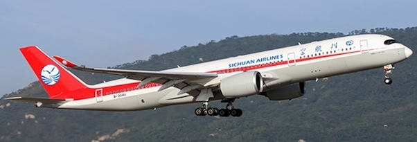 A350-900 (Sichuan Airlines) B-304U With Antenna  XX4044