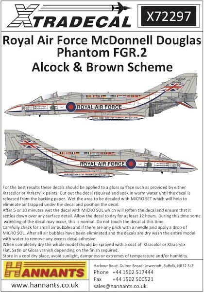 McDonnell Douglas FGR.2 Phantom Alcock and Brown Scheme  X72297