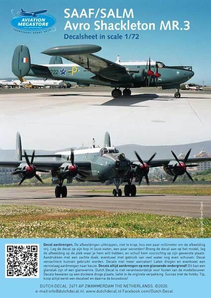 2 EASTERN EXPRESS 72259 DECALS AVRO SHACKLETON MR3 - 1//72