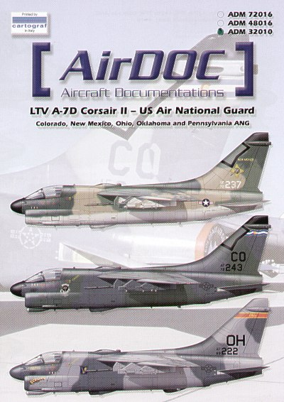 LTV A7D Corsair II - US National Guard  ADM32010