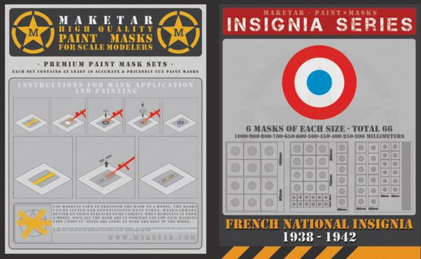 French Insignia  (66 Roundels 11 sizes)  MM48004