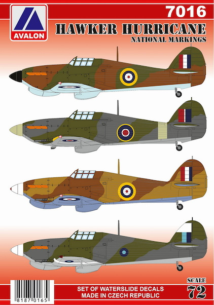Hawker Hurricane National markings  7216