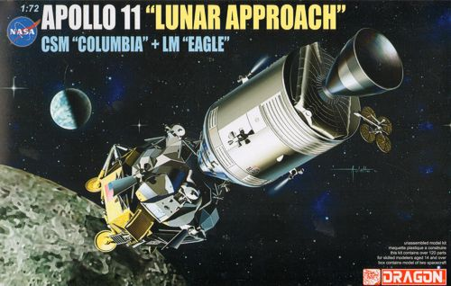 NASA Apollo 11, Lunar Aproach, CSM Columbia, LM Eagle  11001