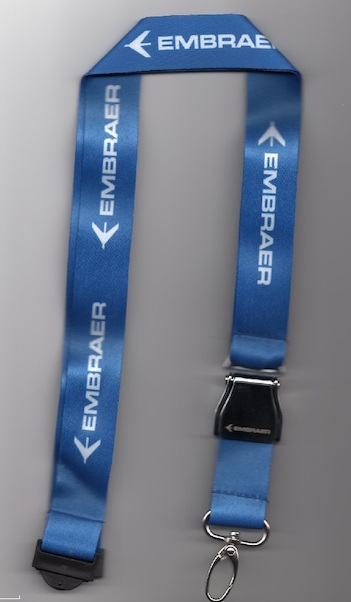 Lanyard with EMBRAER titles as 'mini-airlinebelt'  LAN-emb