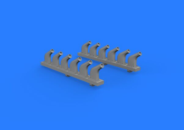 P51D Mustang Exhaust Stacks (Revell)  E632118