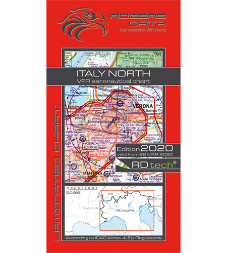 VFR aeronautical chart Italy North 2020  ROGERS-ITALY-N