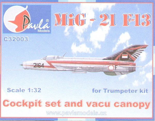 MiG21F-13 Detail set Cockpit with vacuform canopy (Trumpeter)  32003