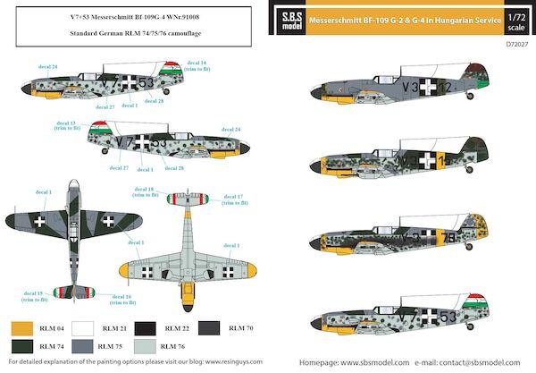 Messerschmitt Bf109G-2 & G-4 Hungarian Air Force WW II (SBS SBSD72027)