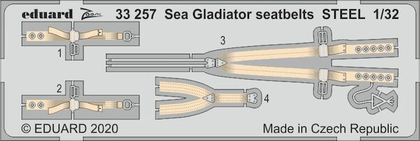 Detail set Sea Gladiator Seatbelts (ICM)  E33-257