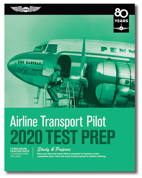 Airline Transport Pilot Test Prep 2020  9781619547889