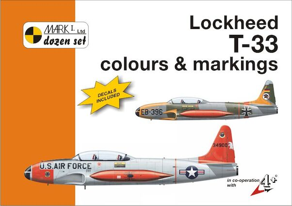 Lockheed T33 Thunderbird colours and markings + decals  9788086637273