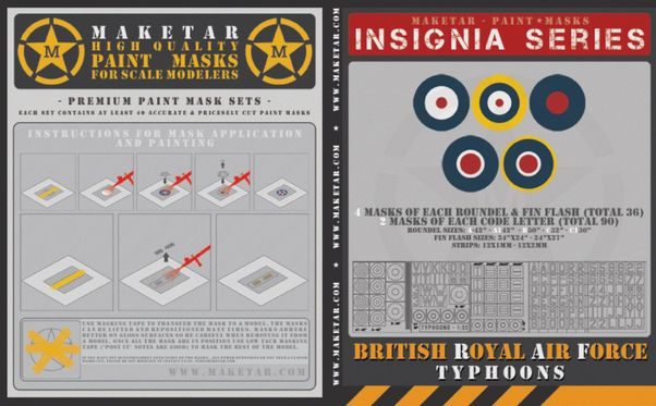 Royal Air Force Typhoon roundels, fin flashes and code letters  MM32041