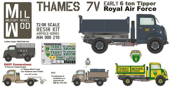 Thames 7V Early 6 ton Tipper (RAF)  MM000-210