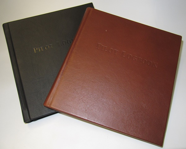 Leather Logbook: black leather  LEATHER-BL