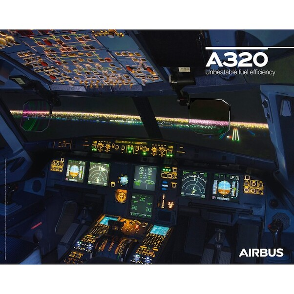 Airbus A320NEO cockpit poster (Airbus A320 NEO COCKPIT)
