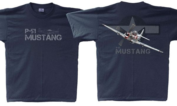P-51 Mustang Adult T-Shirt X-Large  P51-XL