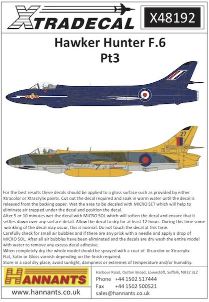 Hawker Hunter F6 Part 3  X48192