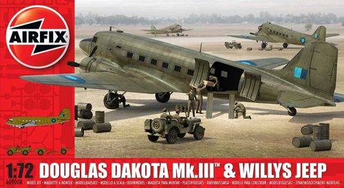 Douglas Dakota MKIII with Willy's Jeep and 75mm howitser  09008