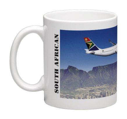 Mug South African Airways (SAA) Airbus A340 over Table Mountain  MOK-SAA