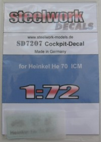Heinkel He70E/F Instrument panel decal  sd7207