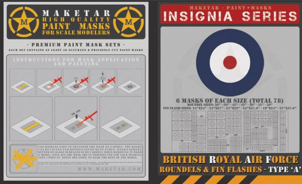 Royal Air Force Roundels Type A and Fin Flashes (78 roundels)  MM48008
