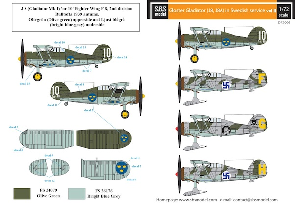 Gloster Gladiator in Swedish service VOL.2  SBSD72006