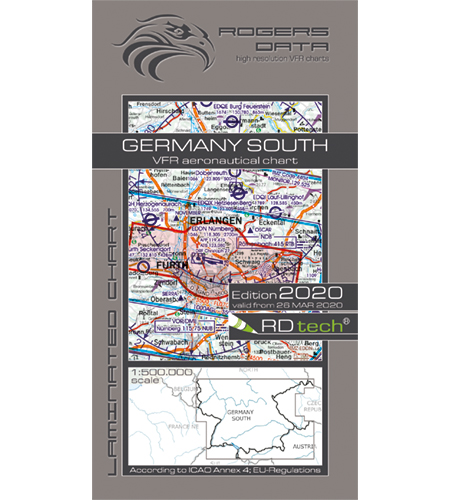 VFR aeronautical chart Germany South 2020  ROGERS-GERM-S