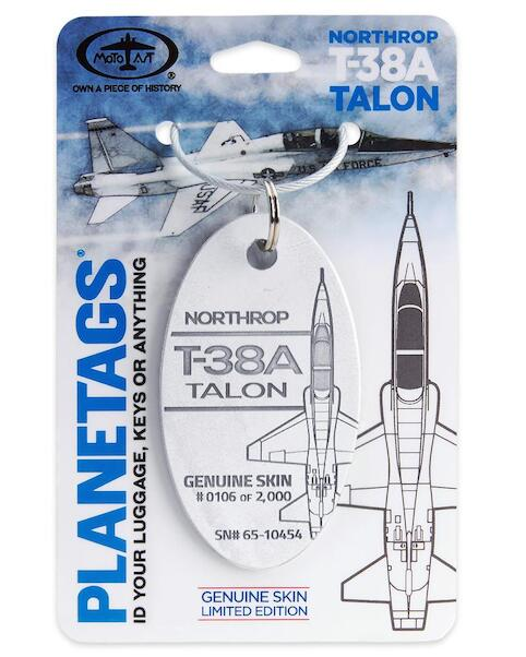 Keychain made of real aircraft skin: Northrop T-38 Talon 65-10454  T-38