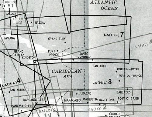 High and Low Altitude Enroute Chart Latin America LA(H/L)7/8