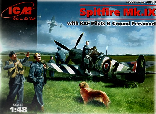 Spitfire MKIX with RAF Pilots and ground Crew set  48801
