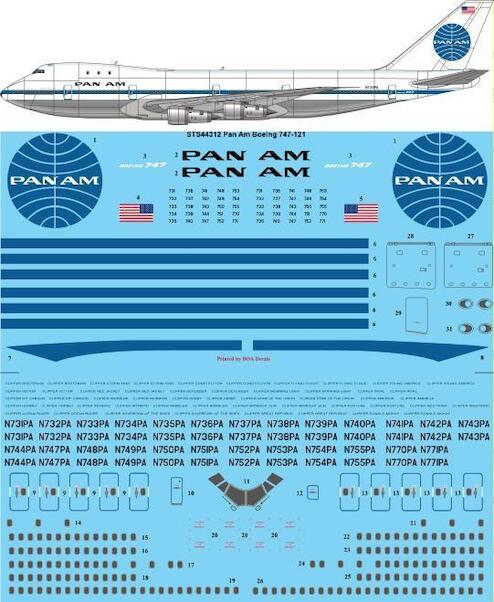 Boeing 747-121 (PanAm - delivery colours)  sts44312